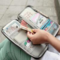 Wholesale Portable Travel Multi purpose Passport Credit Card Holder Card Case Wallet Purse Colors