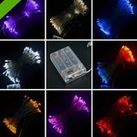 2m 20 cuerda del LED MINI luces de la HADA batería de la BATERÍA OPERADA Blanco / blanco caliente / azul / rojo / amarillo / verde / color de rosa / Purply / multi-color
