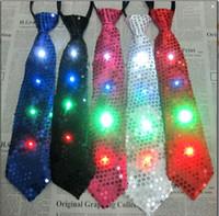 Wholesale 2015 Hot Sale LED flash tie Stage Performance South Korean import emulation silk fabrics narrow version into small men tie