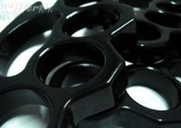 Wholesale 2 PS BLACK THICK BRASS KNUCKLES DUSTER