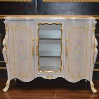 antique furniture - antique baroque european furniture hand carved leaf gilding royalty cellaret living room classic furniture