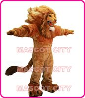 Custom Made athletic costumes - Fire Lion Mascot Costume Adult Size Wild Animal Male Lion King Carnival Party Cosply Mascotte Fit Suit Kit EMS FREE SHIP SW1002