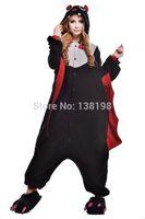 adult halloween pajamas - 2015 Round Neck Halloween sexy Costumes Animal Onesie Adults Sleeping Wear Kigurumi Pajamas Cosplay bat full Sleevele