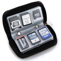 Wholesale 1 x Memory Card Storage Carrying Pouch Case Holder Wallet For CF SD SDHC MS DS