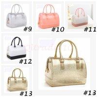 silicone handbags - 10pcs CCA3097 High Quality Women Ladies Jelly Handbag Silicone Furly Jelly Handbag Famous Brand Bag Candy Color Bags Purses Bolsas Totes
