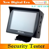 Wholesale Retevis Multifunction Security CCTV Test Monitor Portable quot TFT LCD Tester with ADSL Detection Wristband