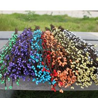 berry garland - TMC Colors Folk Pip Berry Artificial Floral Flower DIY Garland Head Hair Ring Festival Wedding Party Headwear Hairband