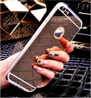 Wholesale Gold Luxury Bling Mirror Case For Iphone s S Plus Clear TPU Edge Ultra Slim Flexible Soft Cover For Iphone6 S inch