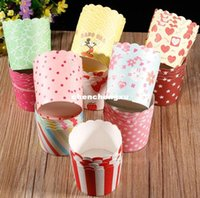 Wholesale Creative Wedding Cupcake Box Paper Cake Cup Baking Cupcake Cases Muffin Cake Tray Mini Cups Party Supplies