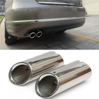 Wholesale Stainless Steel Silver Exhaust Tailpipe End Muffler Chrome For VW SCIROCCO MK3 order lt no track