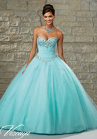 Wholesale 2015 Newly Quinceanera Dresses Sweetheart Lace Up Ball Gown Sleeveless Beading Crystal Tulle Fashionable Party Dress with Bolero Jacke