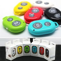Wholesale Bluetooth Remote Shutter Wireless Camera Control Buttons Self Timer for iOS Android iPhone Plus S S Galaxy S5 S4 Note3