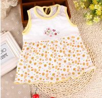 Cheap Baby Dress Girl sundress jumper 100% Cotton Girl pinafore baby dress one-piece dresses lovely