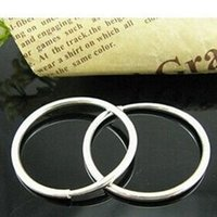 Wholesale New Pair Small Thin Endless Hoop Earrings Round Women Fashion Jewelry For Sale