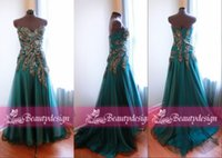 Cheap Cheap Real images custom made 2015 evening dresses sexy sweetheart peacock feathers sequins court train backless A line prom gowns BO6750