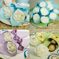 Cheap Newest DIY Wedding Candy Boxes Favor Holders Ice Cream Cone Bow Crystal Rhinestone 2015 Wedding Suppliers Favor Candy Box Box Sugar