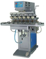 automatic conveyors - Six Color Ink Cup Pad Printing Machine with Conveyor Six half automatic rotary printing machine Semi automatic rotary printing machine