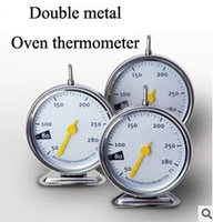 Wholesale Hot selling oven thermometer kitchen thermometer with double metal material which is beautiful and durable
