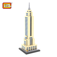 architecture usa - LOZ Empire State Building Building Blocks World Famous Architecture Mini Bricks DIY Toys Present Gift USA