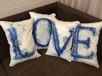 artist presents - 4PCS Set Soft Artist Painting LOVE Print Short Brush Stuffed Plush Cushion Present Decorative Pillow Sofa Car Decoration Gift
