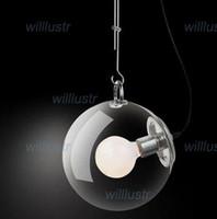 Wholesale Miconos suspension lamp pendant light living room dinning room clear glass modern hanging lighting diameter cm