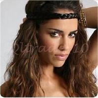 Wholesale 5000pcs CCA2962 New Arrival Elastic Hairband Wig Braid Braided Hair Accessories Head Band Hair Weaving Ring Rope Headwear Braided Headband