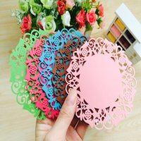 Wholesale Silica hollow flower coasters insulation pad creative advertising promotional gifts gifts custom utility