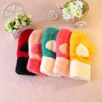 Wholesale K058 thicken stuffed full of love hearts full finger gloves gloves warm gloves women of good quality
