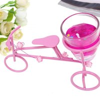 Wholesale Candle Favors Metal Bicycle Candle Holders Wedding Favors Party Pendants Banquets Accessories Gifts Decorations Ctn ZT004
