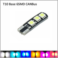 Wholesale CANBus10pcs T10 SMD W5W Wedge Car LED Reading Lights Clearance Lights Marker Lamps
