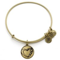 Wholesale Hot Alex and Ani energy bangle set Love Bird and Heart two face charm fun bangles AAB008