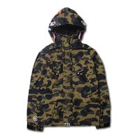 clothing chain - 2015 Autumn New swag clothing KANYE WEST jacket hoodies Camouflage camo Shark men YEEZUS tour windbreaker coat Outerwear