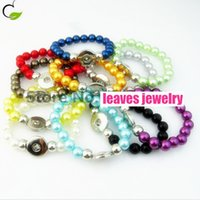 best turquoise jewelry - Handwork mix color peral Elastic Snaps Button Bracelet Ginger Snaps jewelry a per color best gifts