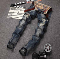 skinny jeans for men - Robin Jeans For Men New Arrival Mens Jeans High Quality Ripped Jeans Slim Fit Balmain Biker Jeans Brand Designer Jeans