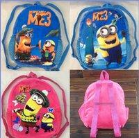 Wholesale 2015 New cm Lovely Despicable Me3 Minions Backpack Boys Girls School Bagpacks Kid Children s Plush Bags styles V270