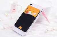 Universal Silicone Yellow Smart Wallet Mobile Card Holder Sticks to Phone Back NEW 3m sticker self adhesive SILICONE card holder