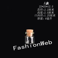 Wholesale ml x25mm Small Tiny Clear Empty Wishing Glass mini cute Bottle Message Vial With Cork Stopper