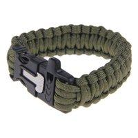 best travel gear - Best Survival Paracord Bracelet Outdoor Flint Fire Starter Scraper Whistle Gear Kits stone Travel Kits tool