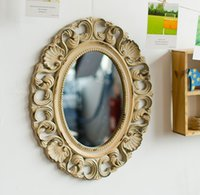 act glass - US UA wooden toilet glass Hang act the role of creative wall mirror The wall decorations
