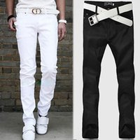 Wholesale Mens Stylish Jeans Straight Slim Fit Trousers Casual Long Pants