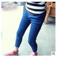 bebe skinny jeans - Selling Bebe Pants Girls Fashion Jeans Autumn New Girls Denim Pants Feet High Stretch Pants Leggings