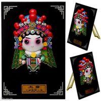 Wholesale Chinese Handmade Clay Peking Opera Figure Da Qiao Plate type Craft Cute Decoration Gift