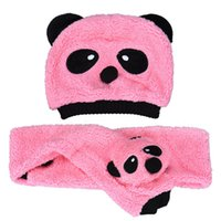 baby leo - Onfine Leo New Set Baby Girls Boys Warm Cute Cotton Velvet Two Pieces Panda Hat Scarves High Quality