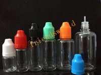 Wholesale PE eGo needle bottles with childproof safety cap and long thin dropper tip ml ml ml ml ml ml e liquid bottles