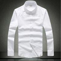 Wholesale The famous Italian designer items Autumn men s tuxeso shirt long sleeve shirt slim fit straight stripe design cotton shirt