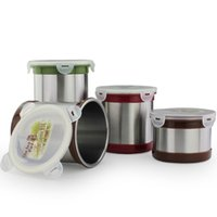 airtight coffee canisters - Novelty Custom combination Sizes stainless steel coffee storage canister with lock lid Airtight Jar Canister food container