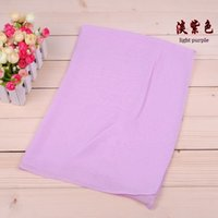 Wholesale Novelty and Elegant Solid Lady Gauzy Breathable Plain Chiffon Scarf Wraps Muffler Scarves Bandelet Neckerchief Cloud CF X001