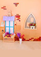 LK-1279-A-1 bear fences - 200CM CM backgrounds Penguin plush toy bear flowers fence photography backdrops photo LK