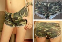 army pants women camouflage - S Sexy Women s Camouflage Jeans Short Hot Pants Denim Low Waist Daisy Dukes