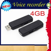 Cheap 4GB USB Disk Digital Audio Voice Recorder One Button Voice Activated Sliding USB Connection VOR mini voice recorder UR-09 30pcs